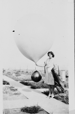 Launching a weather balloon. Photo from NOAA Photo Library, used under Creative Commons License.