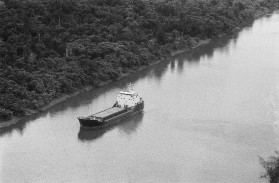 Ore ship on Fly River