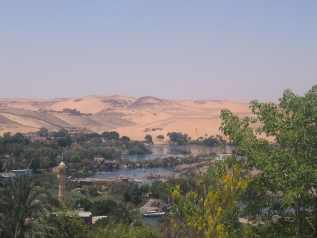 The Nile at Aswan. Photo by Jessica Barnes.