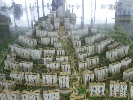 A Model of Rawabi. Photo by Kali Rubaii.